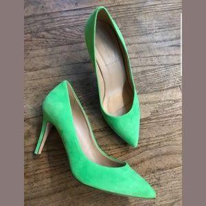 J. Crew Green heels 🍀🌿